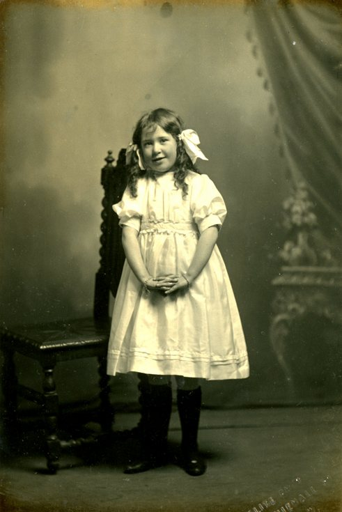 Studio photograph of a young girl