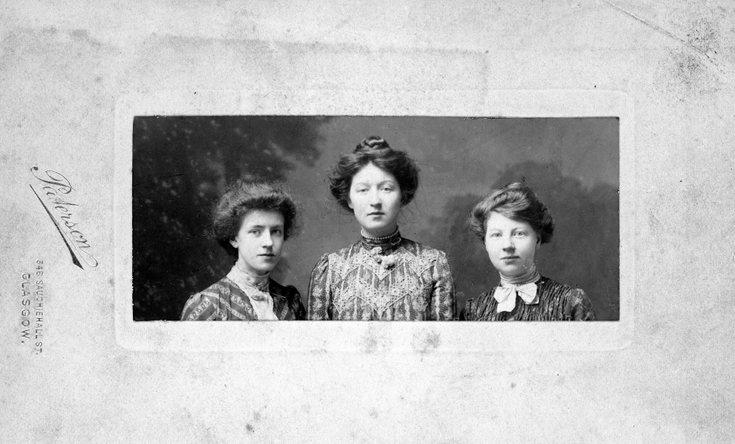 Studio photograph of MacDonald sisters
