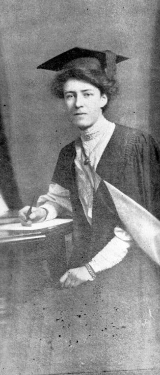 Josephine MacDonald in university gown