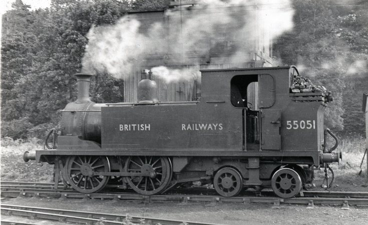 Locomotive 55051 in Dornoch siding