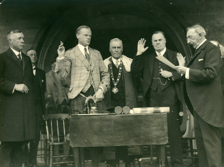 Taking of the Oath at  Freedom Ceremony 1928