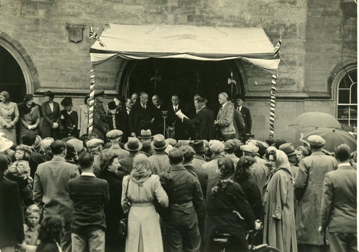 Freedom Ceremony with Willie Skinner as Town Clerk