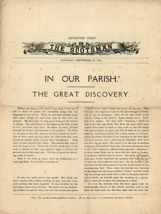In Our Parish: The Great Discovery