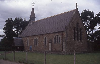 View from the east of St Finnbarr's Church. School