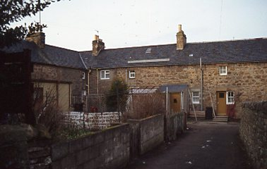 Rear view of  Gilchrist Square properties