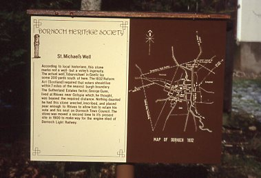 St Michael's Well, Station Road original sign
