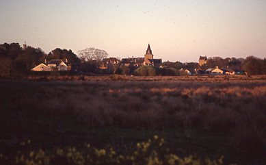 View of the town  from the south west