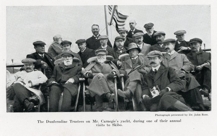 Dunfermline Trustees on Mr Carnegie's yacht