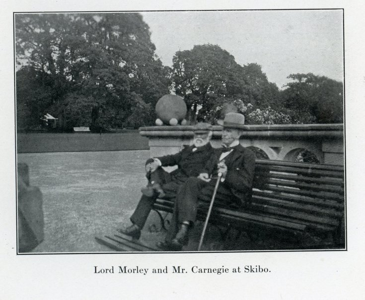 Lord Morley and Mr Carnegie at Skibo