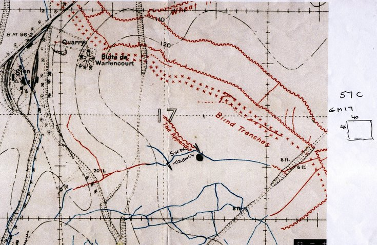 Location of Snag Trench Battle of the Somme