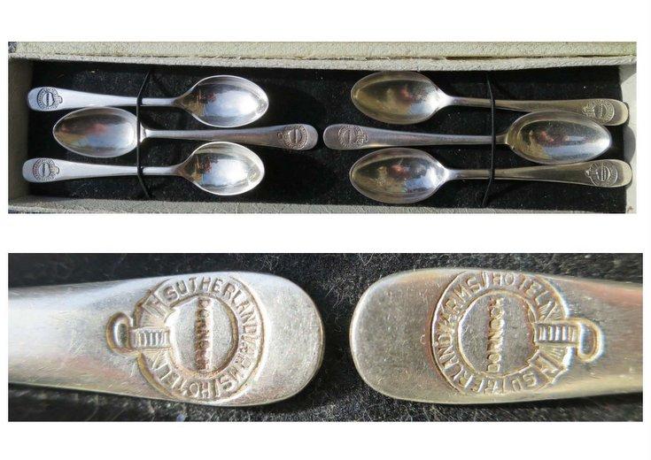 Set of six tea spoons embossed 'Dornoch Sutherland