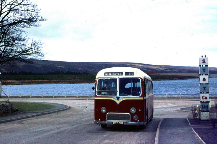 Golspie service turning into Lairg  main street