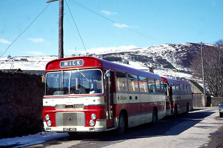 Highland buses on the Helmsdale to Wick service