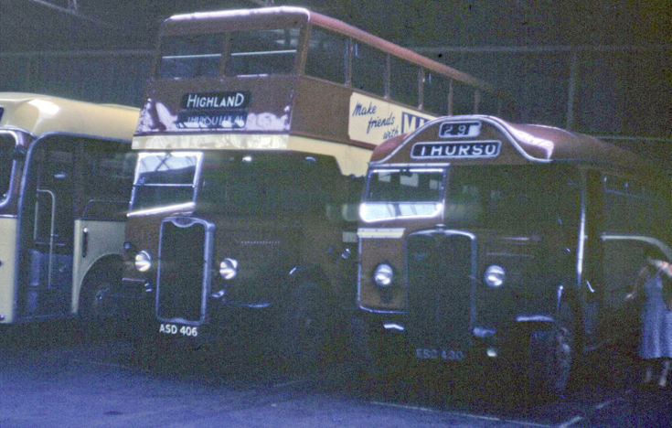 Highland buses in Thurso bus garage