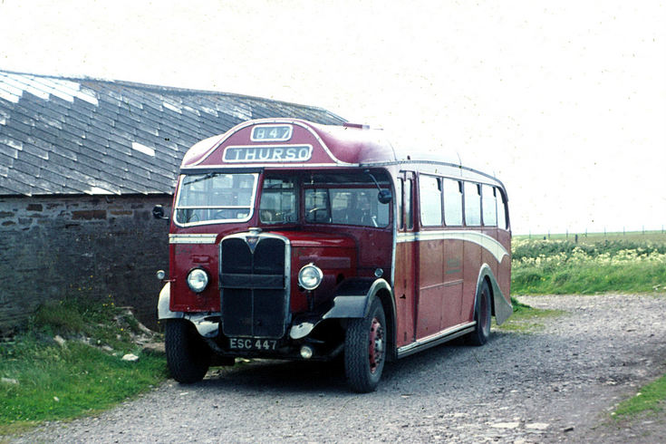 Single deck Highland bus at Mey