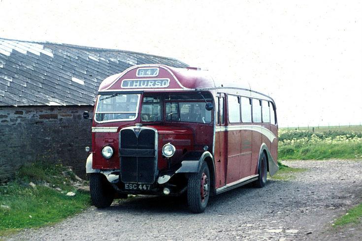 Single deck Highland bus at Mey