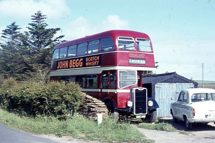 Double deck Highland bus at Mey