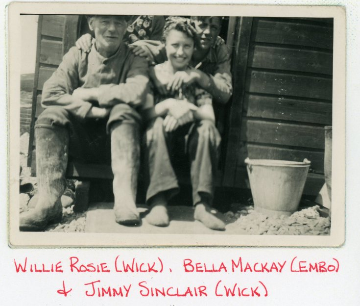 Willie Rosie, Bella Mackay and  Jimmy Sinclair