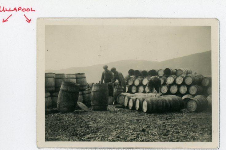 Herring barrels at Ullapool