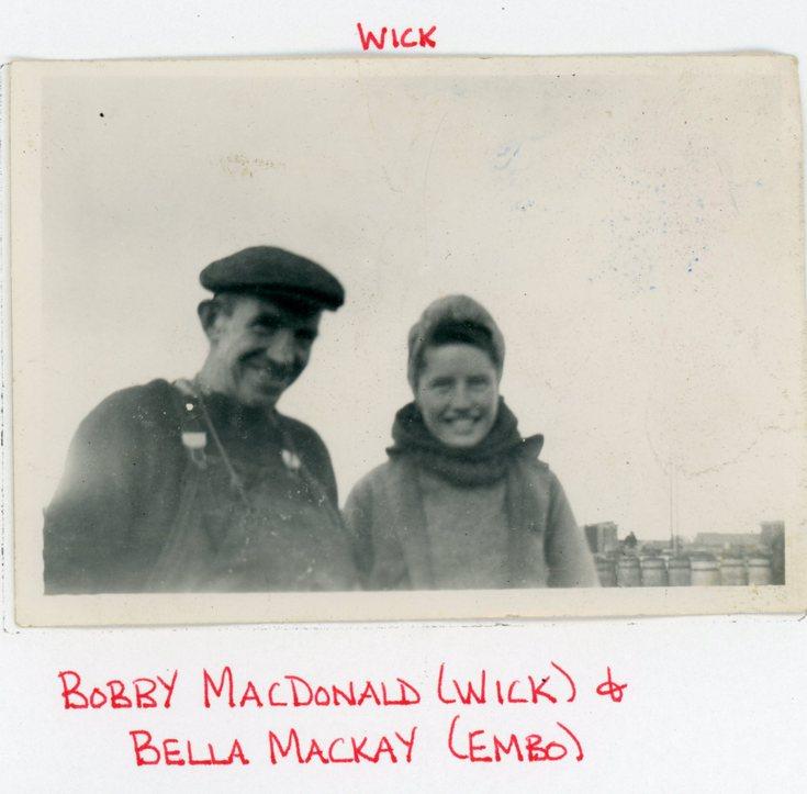 Bobby MacDonald and Bella Mackay of Embo