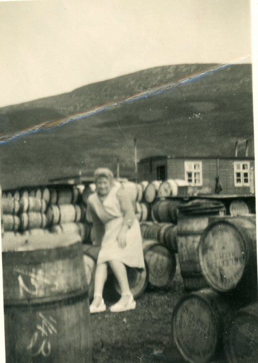 Christina Mackay  in a summer dress at Ullapool