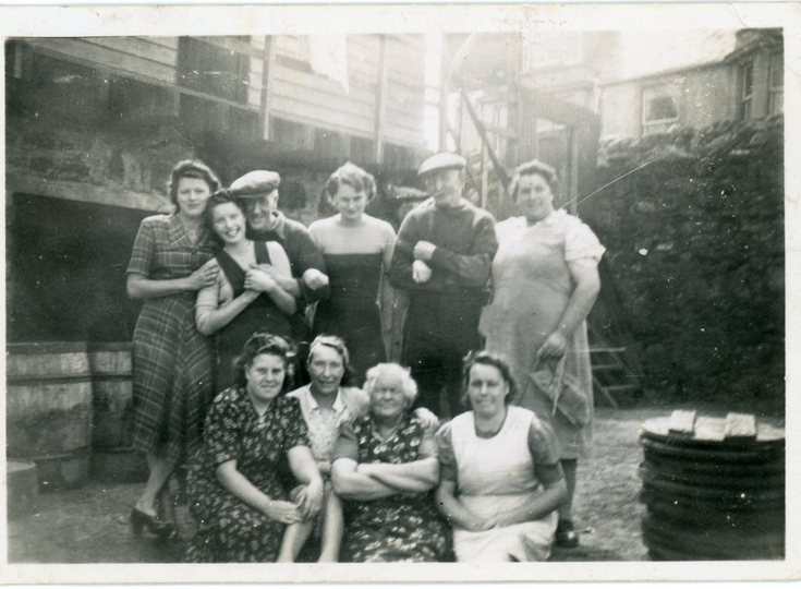 Group photograph of  'Herring Harvesters'