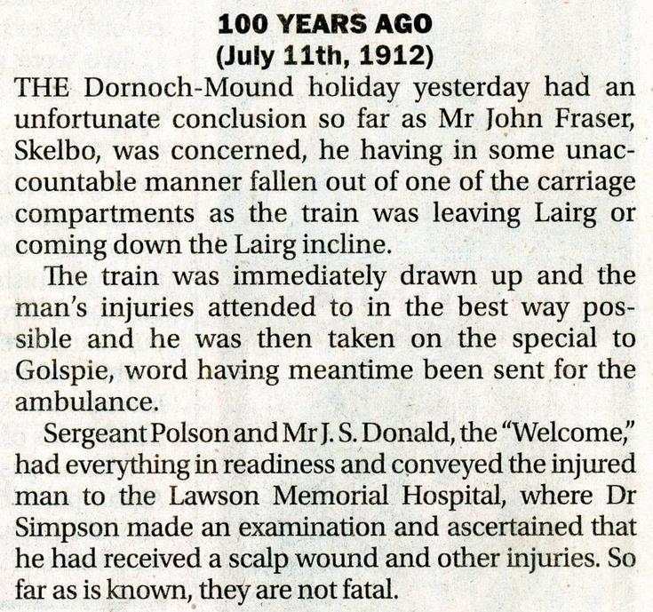 Railway incident 11 July 1912