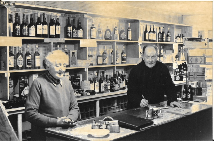 Tom and Isabella Sutherland in their shop c 1990