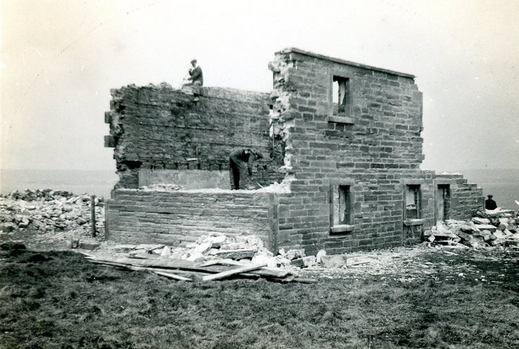 Demolition of the old Ferry House, Meikle Ferry