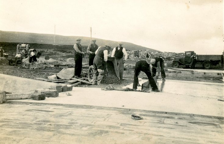 Construction of hard standing Meikle Rerry 1937