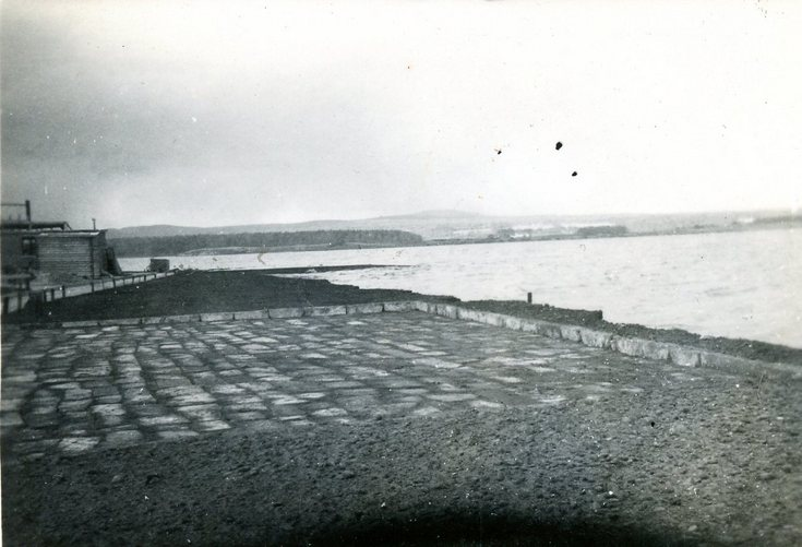 Car park constructed at Meikle Ferry Dec 1937