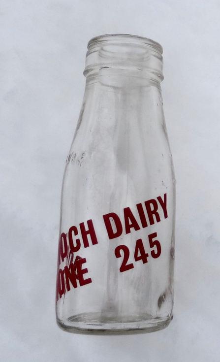 Dornoch Dairy 1/2  pint milk bottle
