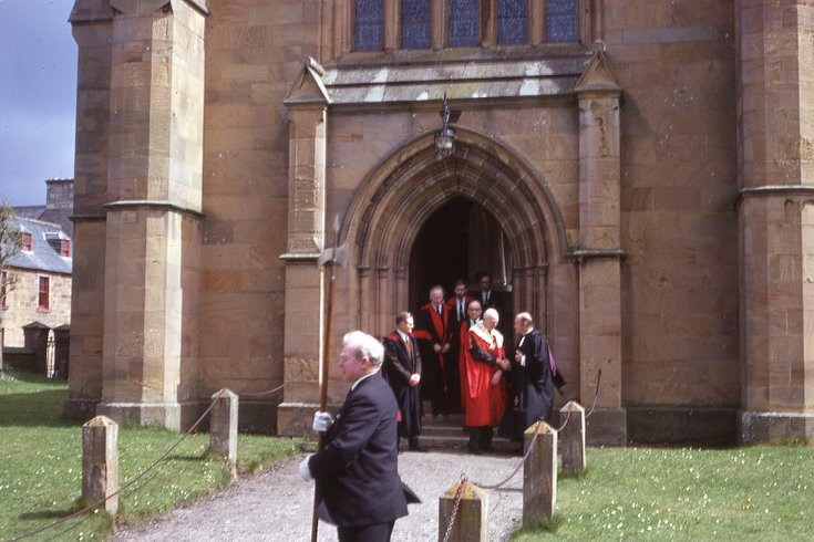 Town Council leaving the Cathedral 1974