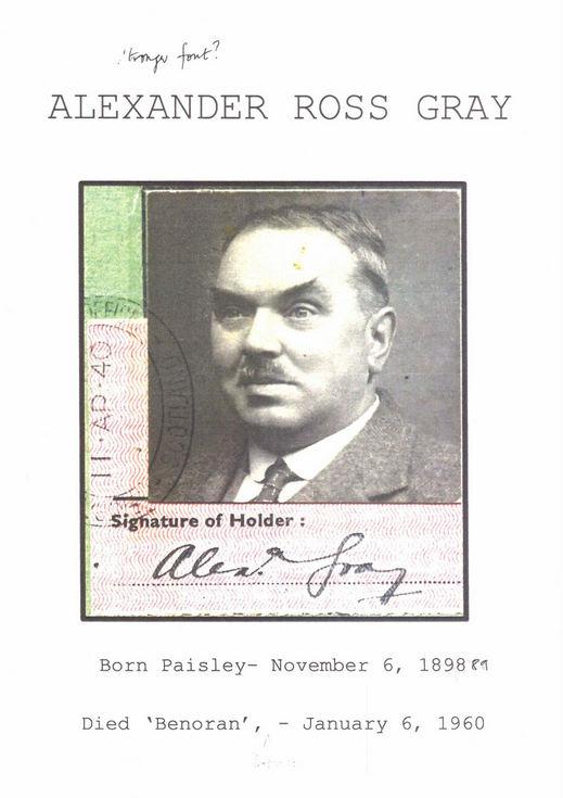 Family history of Alexander Ross Gray