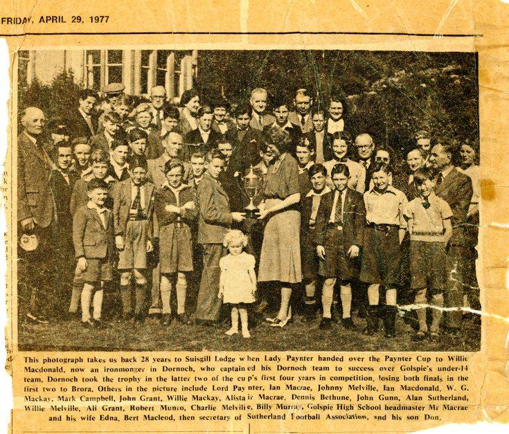 Paynter Cup Winners 1949