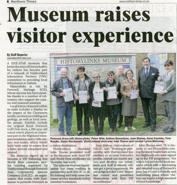 Museum raises visitor experience