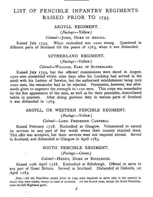 The Sutherland regiment