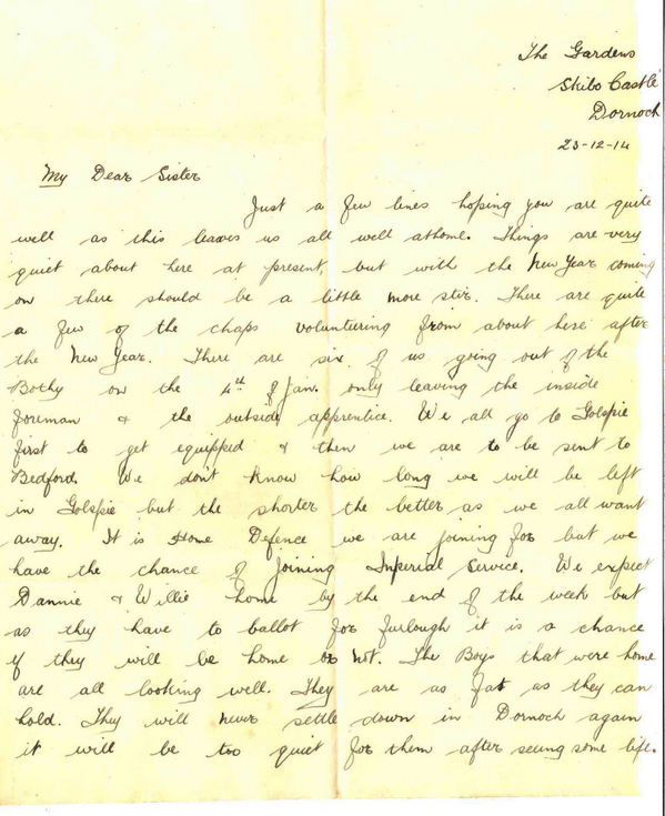 Letter from Thomas McCulloch to his sister Jo