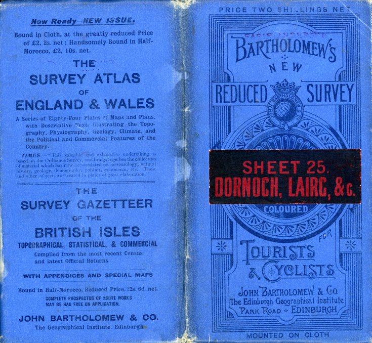Bartholomew's reduced survey map sheet 25