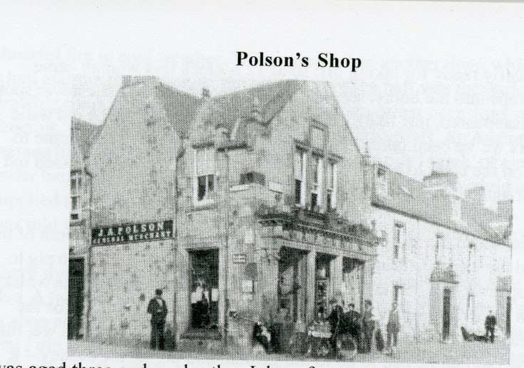 Photograph of Polson's shop Bonar Bridge