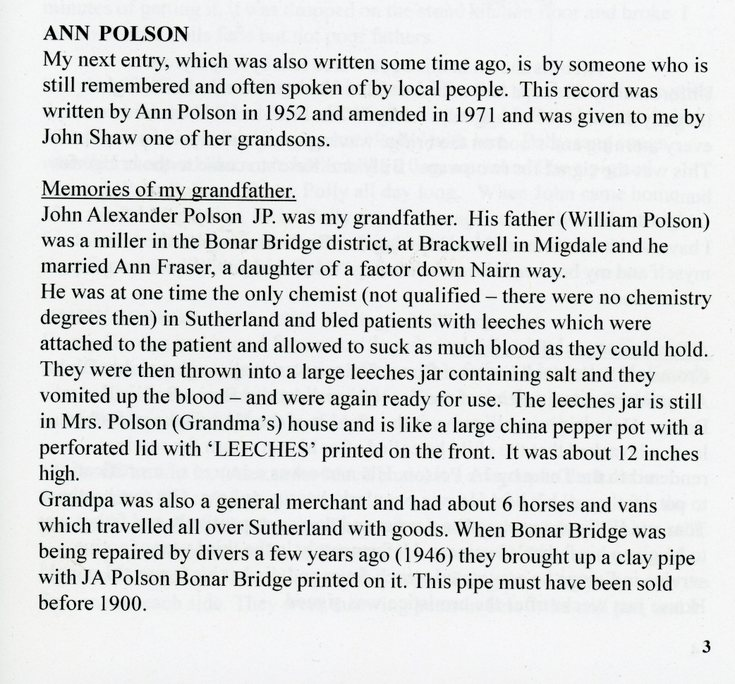 Memories of my Grandfather by Ann Polson
