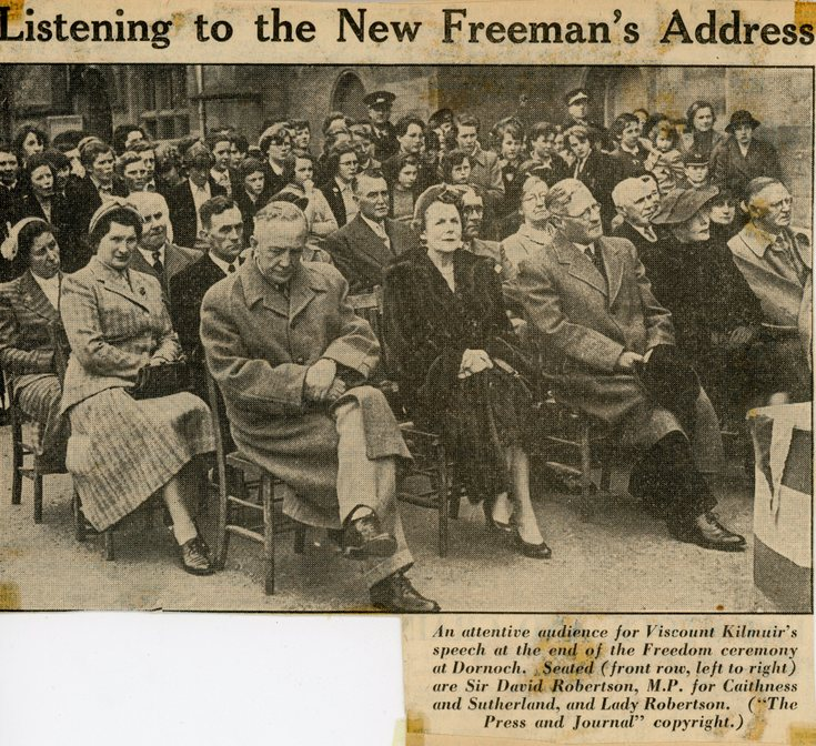 Viscount Kilmuir Freedom of Dornoch - Listening to