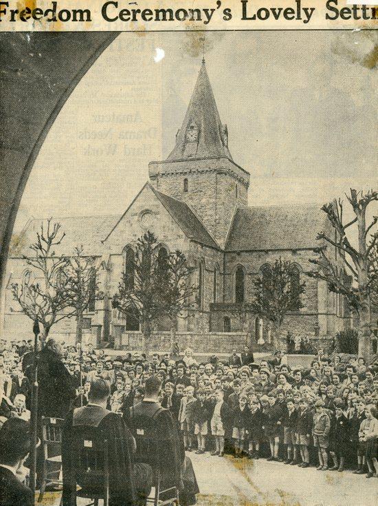 Viscount Kilmuir Freedom of Dornoch - Setting