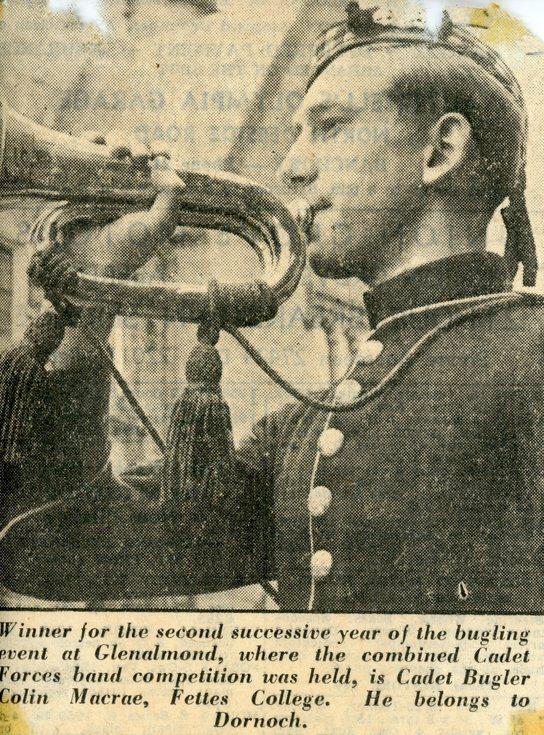 Cadet Bugler Colin Macrae