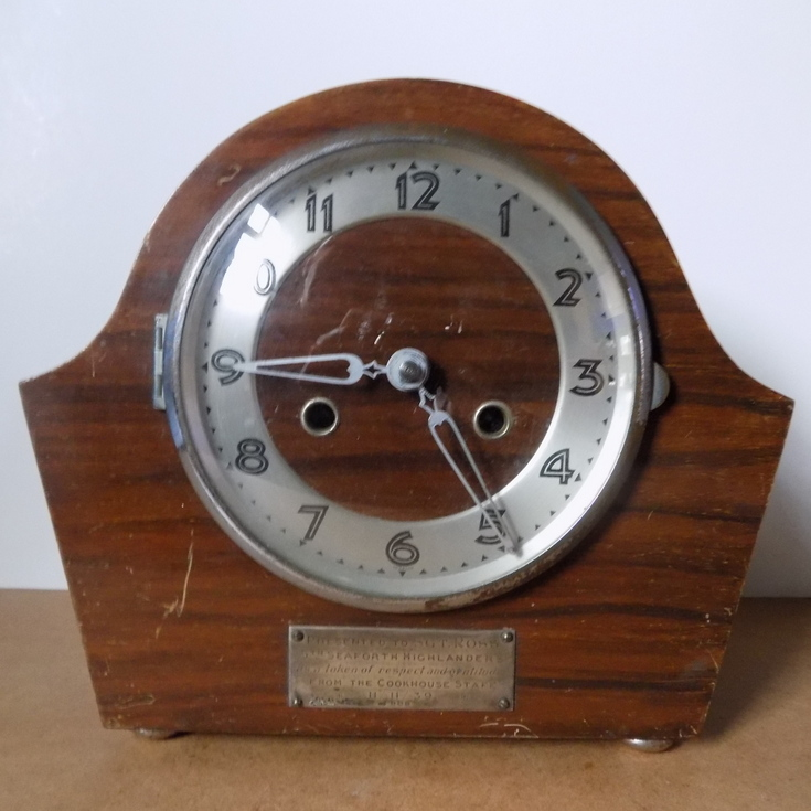 Domestic chiming clock of  typical 1930's design