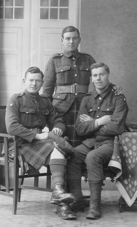 Studio group photograph Seaforth Highlanders