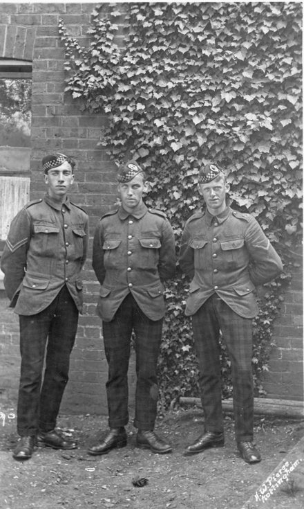 Three soldiers of the 5th Seaforth Highlanders