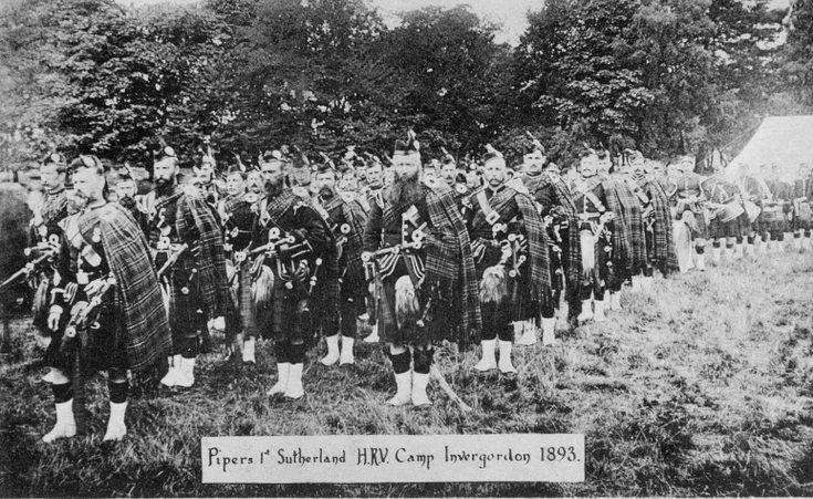 Sutherland Highlanders camp Invergordon 1893