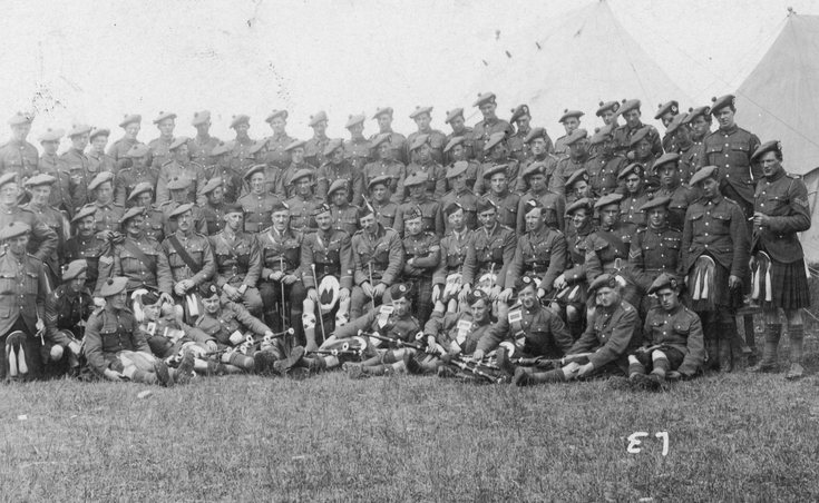 5th Seaforth Highlanders group photograph
