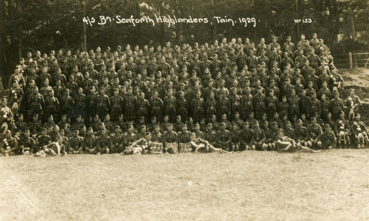 4/5th Seaforth Highlanders Tain 1929
